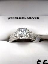Sterling Silver Simulated Diamond Bridal Set sz 7 Ring - $56.99