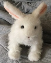 FurReal Friends Hop 'n Cuddle White Bunny Rabbit Makes Noises Hops Plush... - $15.83