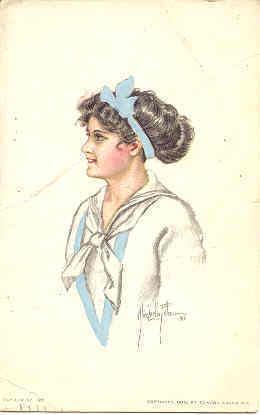 A Classy Lassie Alice Fidler vintage 1913 Post Card