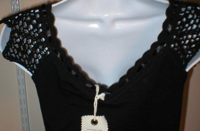 NWT $65 OOPSEES handmade top Womens Black Large