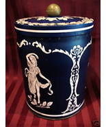 Vintage Souvenir Tea Tin Canister WEDGWOOD and SONS Design Collectible P... - $19.95