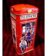 CHURCHILLS TELEPHONE Booth KIOSK MONEY Piggy Bank Tin Vintage Souvenir L... - $14.95
