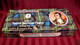Vintage PATERSONS Cookie Tin SCOTTISH Shortbread Fingers SCOTLAND ROBERT... - $9.95