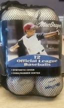 "12 Factory Sealed Official MacGregor Cork & Rubber Core Baseball 9""- 5 O... - $28.50"