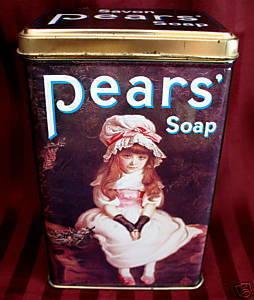 PEARS SOAP Tin VICTORIAN ERA GIRL Souvenir Collectible CHERRY RIPE Collector Bonanza