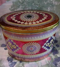 Vintage RILEY'S RILEYS TOFFEE Candy Tin Collector Souvenir Pink FLOWERS ... - $14.95