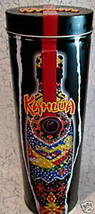 KAHLUA BOTTLE Tin Can EMBOSSED SIMULATED BEAD DESIGN Souvenir Collector ... - $9.99