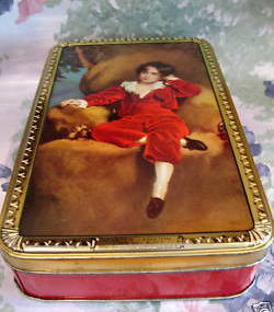 Vintage Wilkins RED BOY Toffee Tin MASTER LAMBTON Souvenir Collector Collectible