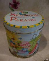 Vintage STORYBOOK PARADE Coin Piggy Bank Tin MOTHER GOOSE Souvenir Colle... - $9.95