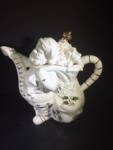 Royal Limited Holly Holiday Santa List Teapot Home for the Holidays - $54.45