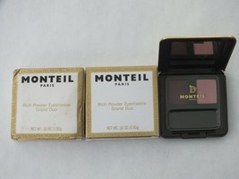 2 MONTEIL PARIS RICH POWDER EYESHADOW GRAND DUO 7728-18 AUBERGETTE-NIB-$ 19.79
