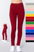 NEW S M L TWILL SLIM TIGHT FIT STRETCH LIGHT WEIGHT JEGGINGS PANTS WITH ... - $23.49