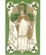 Saint Patrick Himself vintage Post Card - $7.00