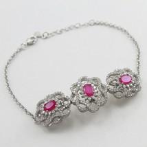 925 Sterling Silver Pink Cubic Zircon bracelet Female Fine Jewelry Free ... - $36.62