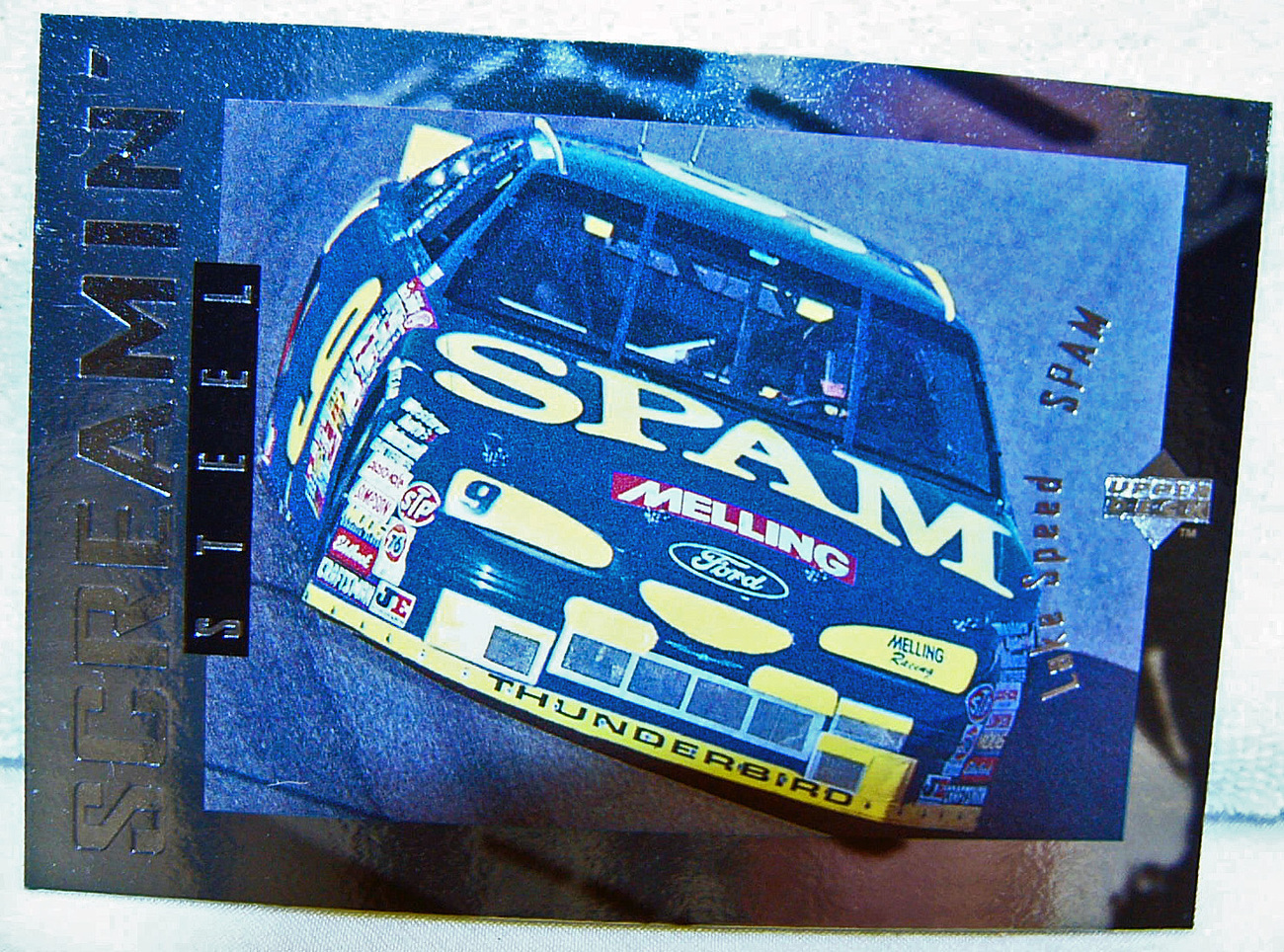 1996 NASCAR Lake Speed SPAM Card RC71