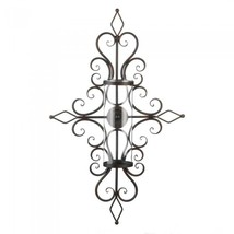 FLOURISHED CANDLE WALL SCONCE - $44.78