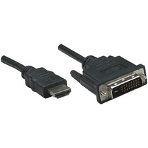 Manhattan Hdmi To Dvi-d Cable, 6ft ICI372503 - $12.61