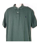 Polo by Ralph Lauren Collared Polo Shirt Men Size XL Green Cotton Short ... - $24.74