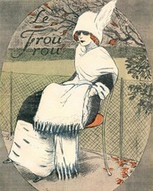 Le Frou Frou: Girl On Chair w/Scarf - $12.82+