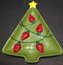 "Hallmark Ceramic Christmas Tree Serving Dish 8"" x 6.5"" Great for Candy Nuts - $14.84"