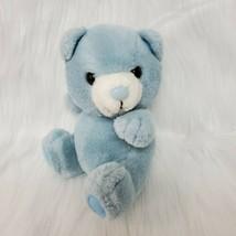 "8"" Vintage Russ Berrie Blue Bear 838 Korea Plush Stuffed Animal Toy B84 - $24.98"