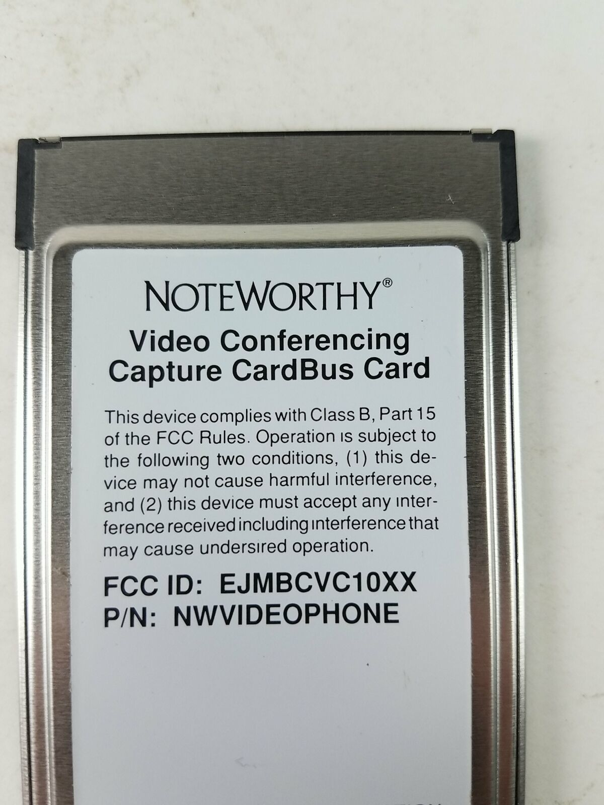 Noteworthy Video Conferencing NWVIDEOPHONE Capture Cardbus Card