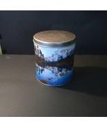 Trails End Vintage Popcorn Tin, 1980s, mountain scene, storage can - $9.75