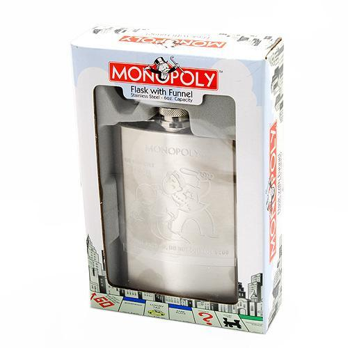 MONOPOLY COLLECTION FLASK AND FUNNEL