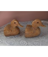 Vintage Ceramic Wood Like Duck Head Bookends - $89.09
