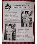 WHITE BUFFALO Canadian SWEATER KNITTING Pattern ADULT - $6.99