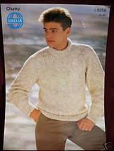 Sirdar Pullover Sweater Knitting Pattern Mens - $3.99