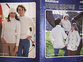 Aran Arran Sweater Cardigan Pullovers Knitting Pattern - $9.99