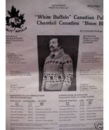 WHITE BUFFALO Canadian SWEATER KNITTING Pattern ADULTS - $6.99