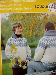 Bouquet COWICHAN TYPE Canada SWEATER KNITTING Pattern