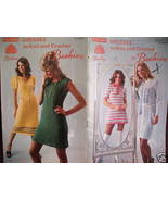 Vintage Patons KNITTING CROCHET PATTERNS DRESSES - $6.99