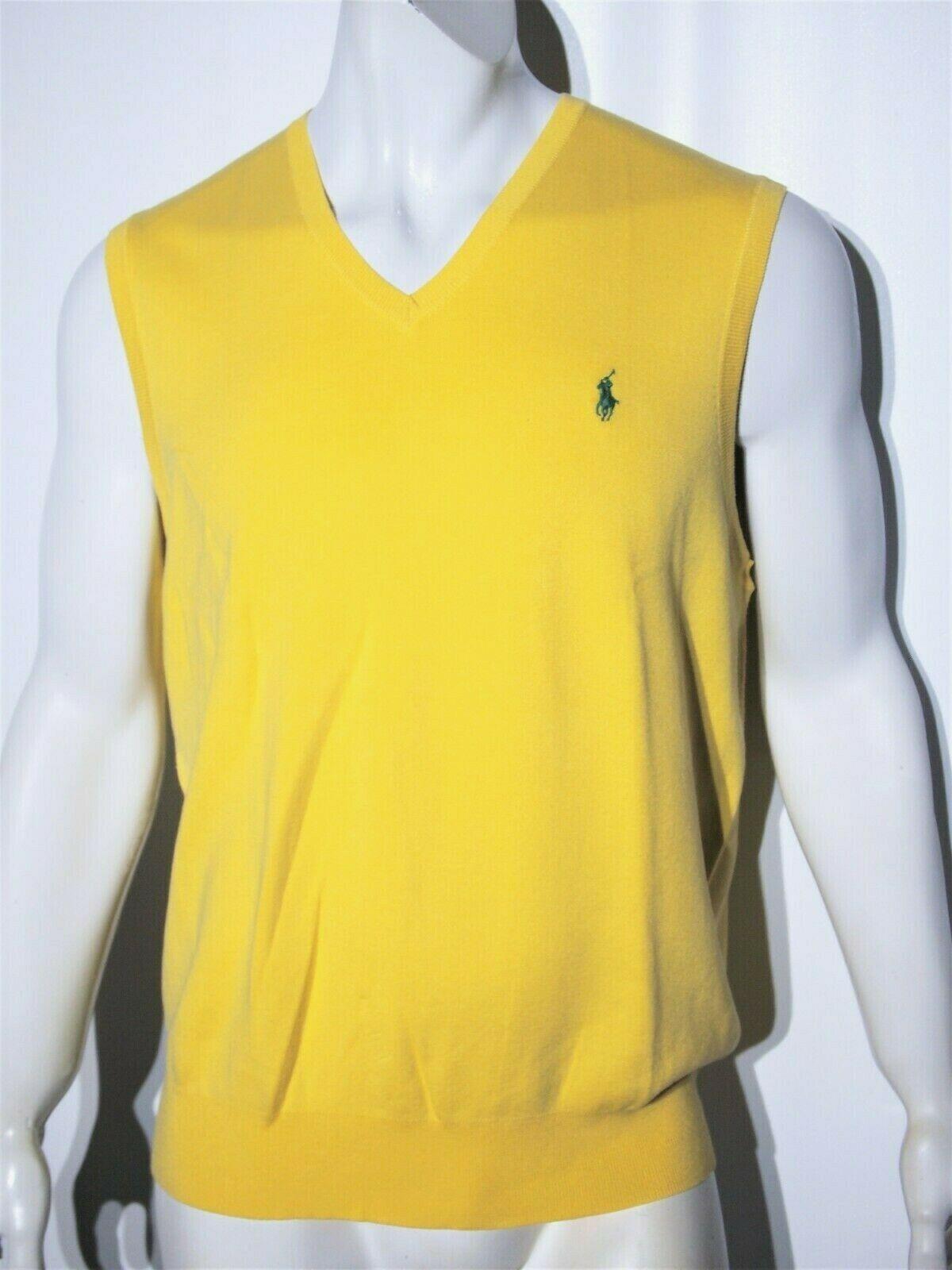 Polo Ralph Lauren men's pima cotton sweater vest size xl  slim fit