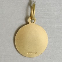 Pendant Medal Yellow Gold 750 18K, CHRISTOPHORUS, 13 mm, made in Italy image 2