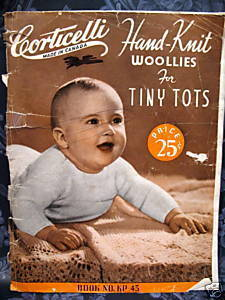 Vintage KNITTING Patterns CORTICELLI BABY - 6 YRS.