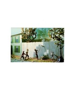 POSTCARD-FENCE PAINTING DIORAMA BY ART SIEVING-TOM SAWYER DIORAMA MUSEUM... - $2.43