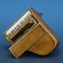 Vintage Porcelain Dollhouse Miniature Grand Piano Good Casting - No Bench image 4