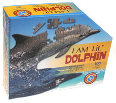 I Am Lil Dolphin 100 Piece Jigsaw Puzzle Large 40x19 Animal Shaped Poste... - $19.99