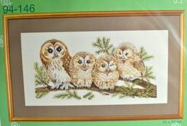 Owl Family Cross Stitch Eva Rosenstand Clara Waever Kit Bird Nature VTG ... - $48.37