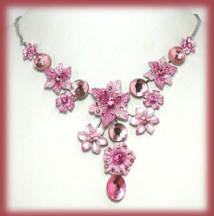 Ne pink glass lamp crystal