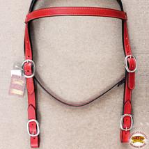 Western Horse Headstall Tack Bridle American Leather Draft Mahogany U-F-HS - $49.95
