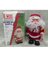 Vintage Santa  Workshop Electronic Musical Santa & Box  - $11.00