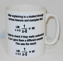 Infinity Equation Question Mug Can Personalise Funny Maths Teacher Stude... - $9.78