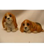 Homco Basset Hound Puppy Dog Figurines - $6.00