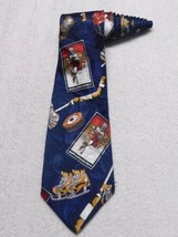 Fratello Hockey Blue Novelty Men's Necktie Tie - $9.89