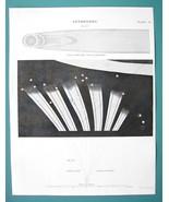 ASTRONOMY Famous 1680 & 1744 Comets - c. 1830 Fine Quality Print - $13.77