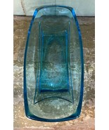 VINTAGE Hazel Atlas Capri Rectangle Aqua Blue Glass Celery Dish  - $9.99